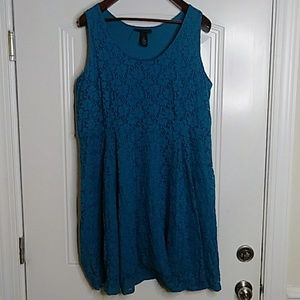 Lane Bryant 22 Teal Dress